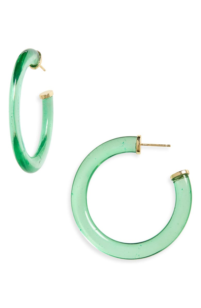 ARGENTO VIVO Lucite<sup>®</sup> Hoop Earrings, Main, color, 305