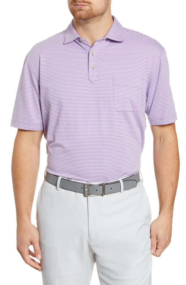 PETER MILLAR Stripe Stretch Polo, Main, color, LIBERTY BLUE