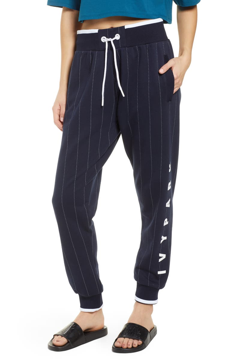 IVY PARK<SUP>®</SUP> Baseball Pinstripe Joggers, Main, color, INK