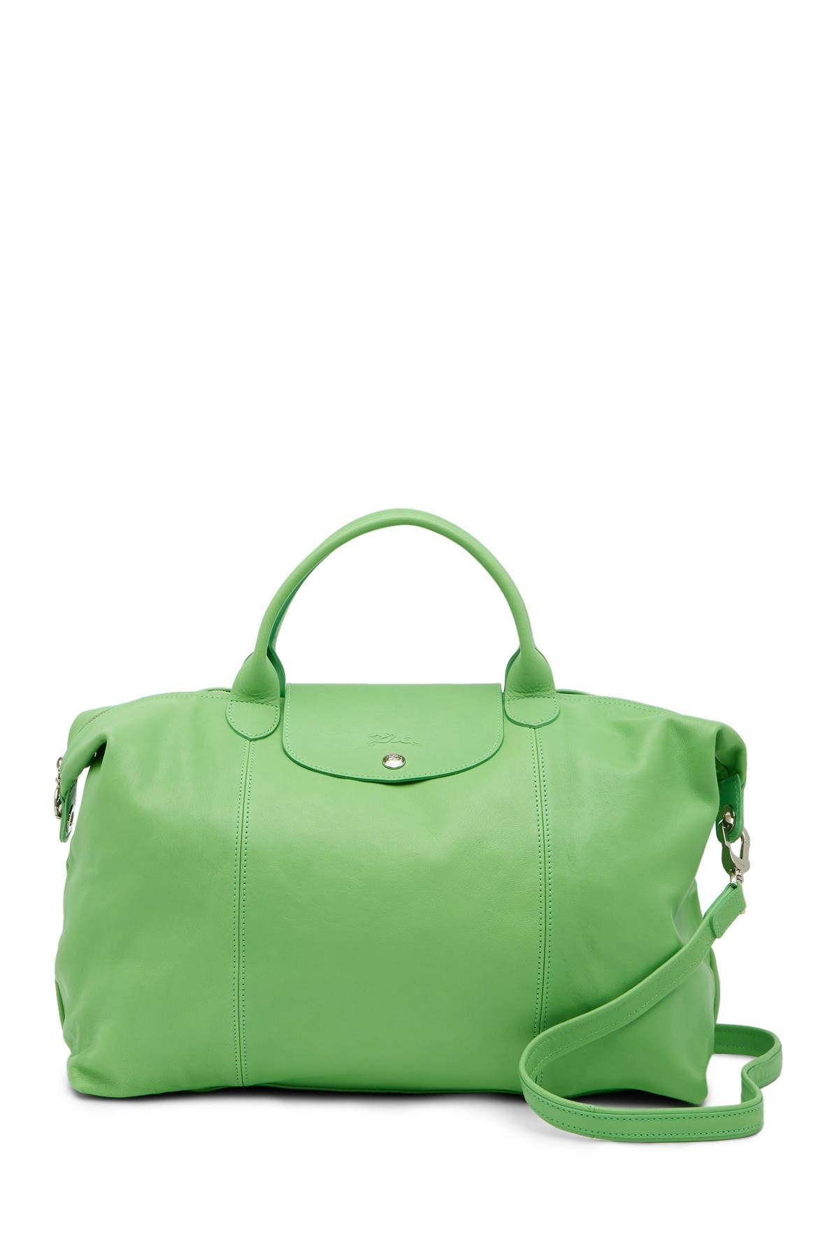 Image of LONGCHAMP Le Pliage Leather Tote Bag