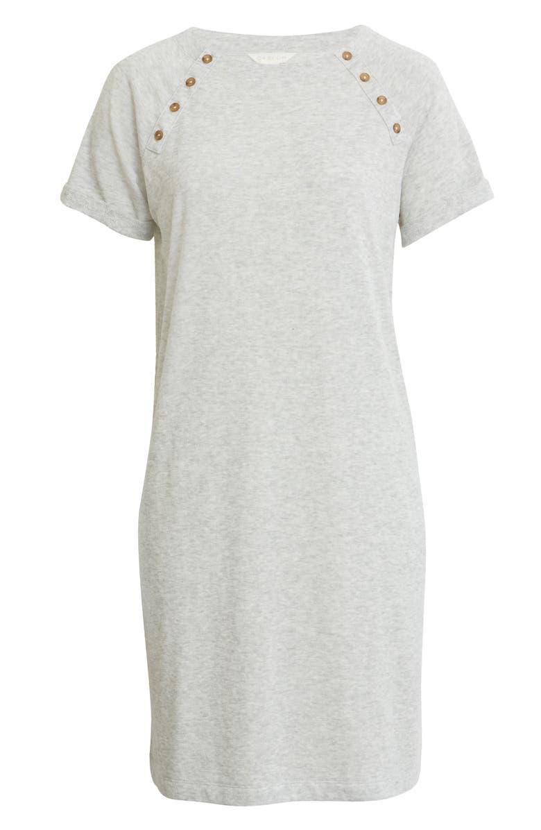 CASLON<SUP>®</SUP> Button Detail T-Shirt Dress, Main, color, 050