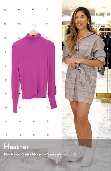 Balloon Sleeve Turtleneck Sweater, sales video thumbnail