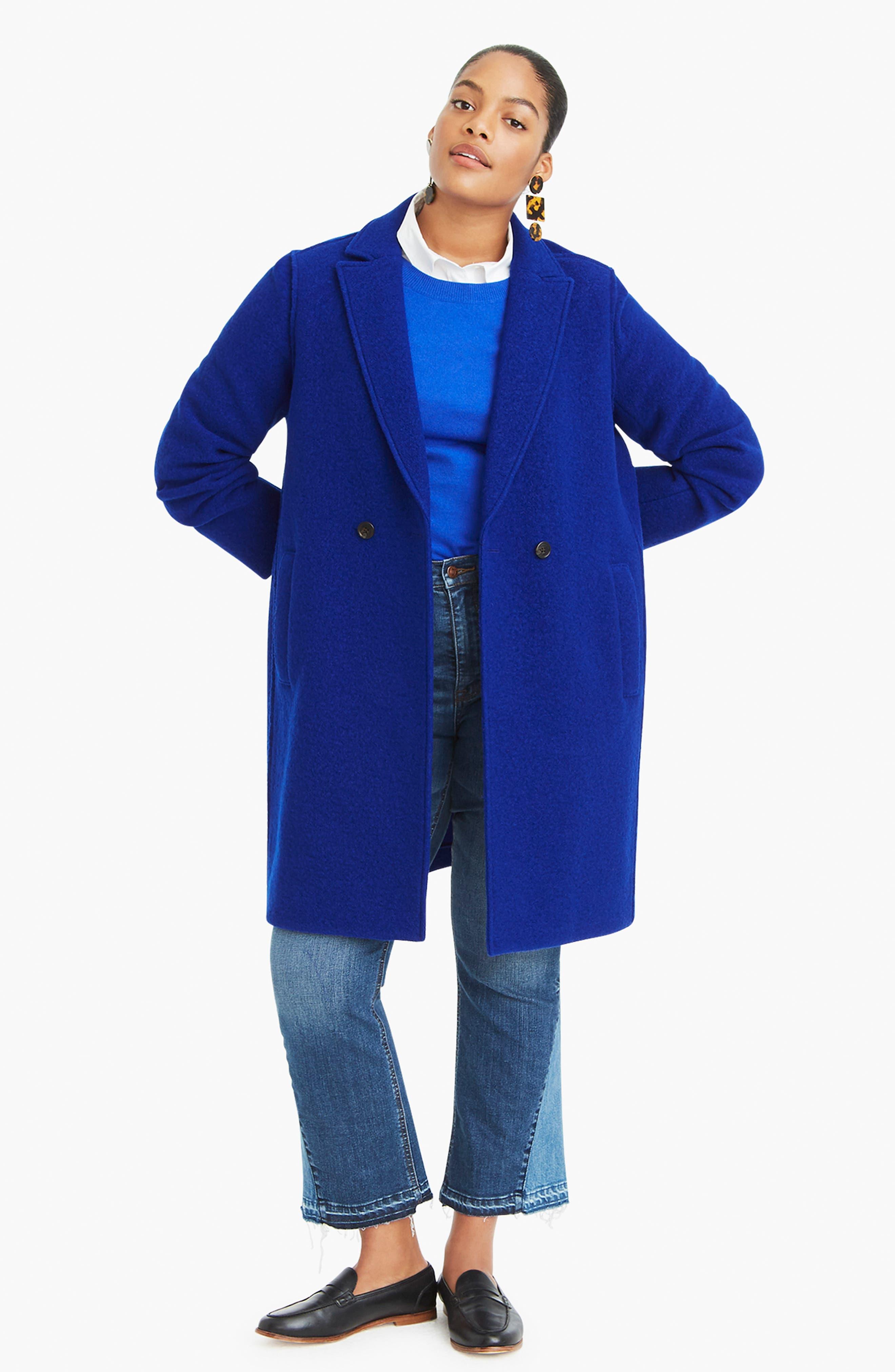 ,                             Daphne Boiled Wool Topcoat,                             Alternate thumbnail 46, color,                             400