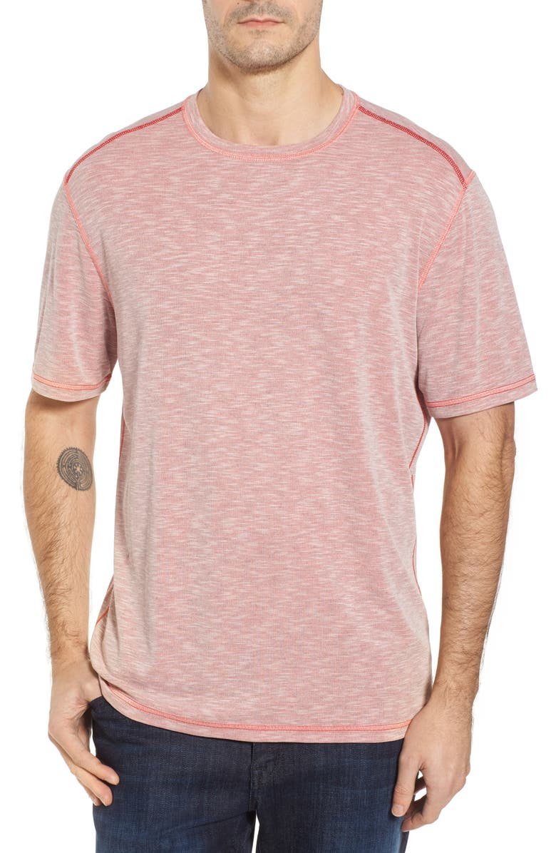 TOMMY BAHAMA Flip Tide T-Shirt, Main, color, RELAXED RED