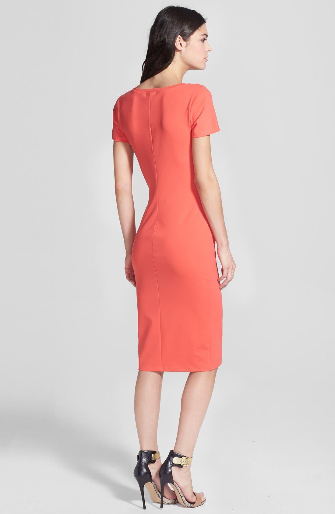 ,                             V-Neck Body-Con Dress,                             Alternate thumbnail 35, color,                             610