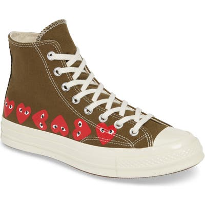 Comme Des Garcons Play Multiheart Sneaker, Brown