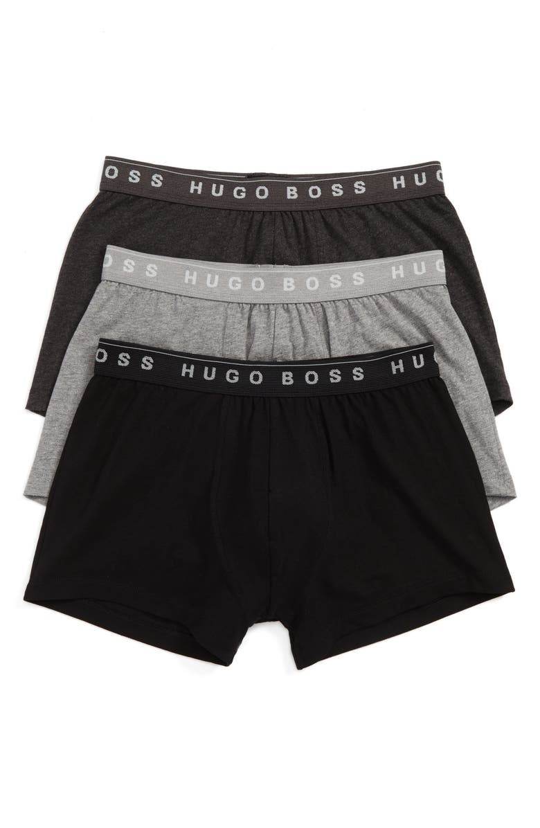 BOSS 3-Pack Cotton Trunks, Main, color, OPEN GREY