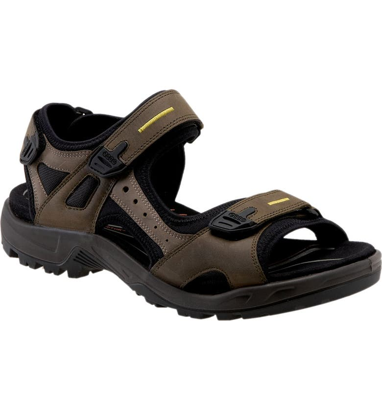 ECCO 'Yucatan' Sandal, Main, color, TARMAC / MOON ROCK