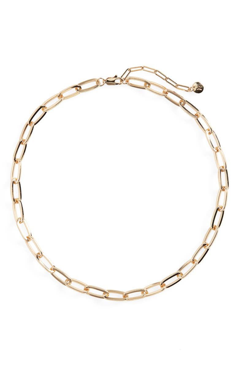NORDSTROM Classic Paperclip Chain Necklace, Main, color, GOLD
