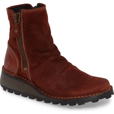 Fly London Mong Boot - Red