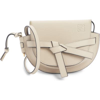 Loewe Gate Mini Leather Crossbody Bag - Beige