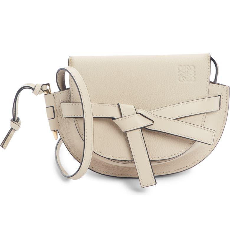 LOEWE Gate Mini Leather Crossbody Bag, Main, color, LIGHT OAT