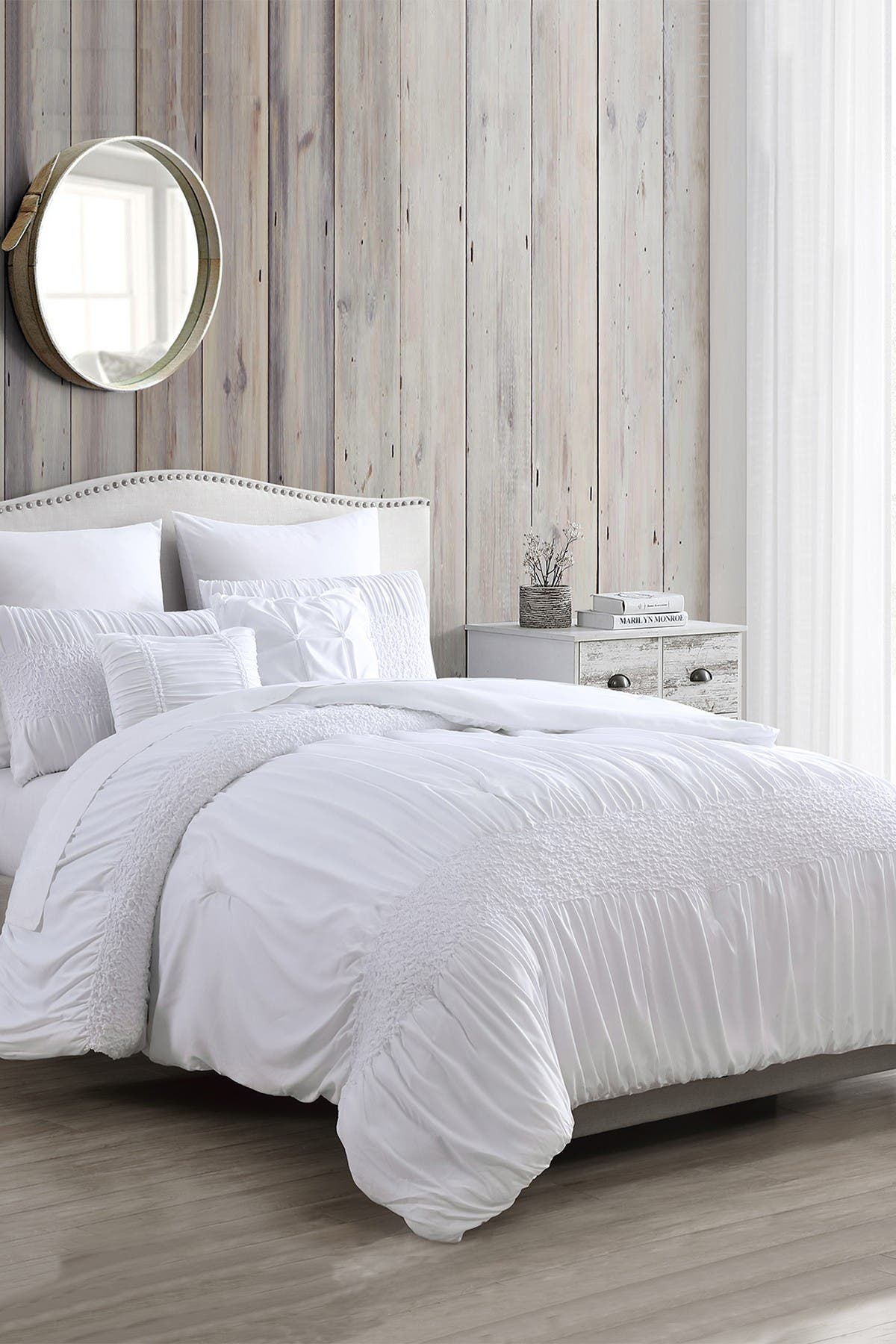 Image of Modern Threads 7-Piece Solid Textured Comforter Set - Ashley - Queen