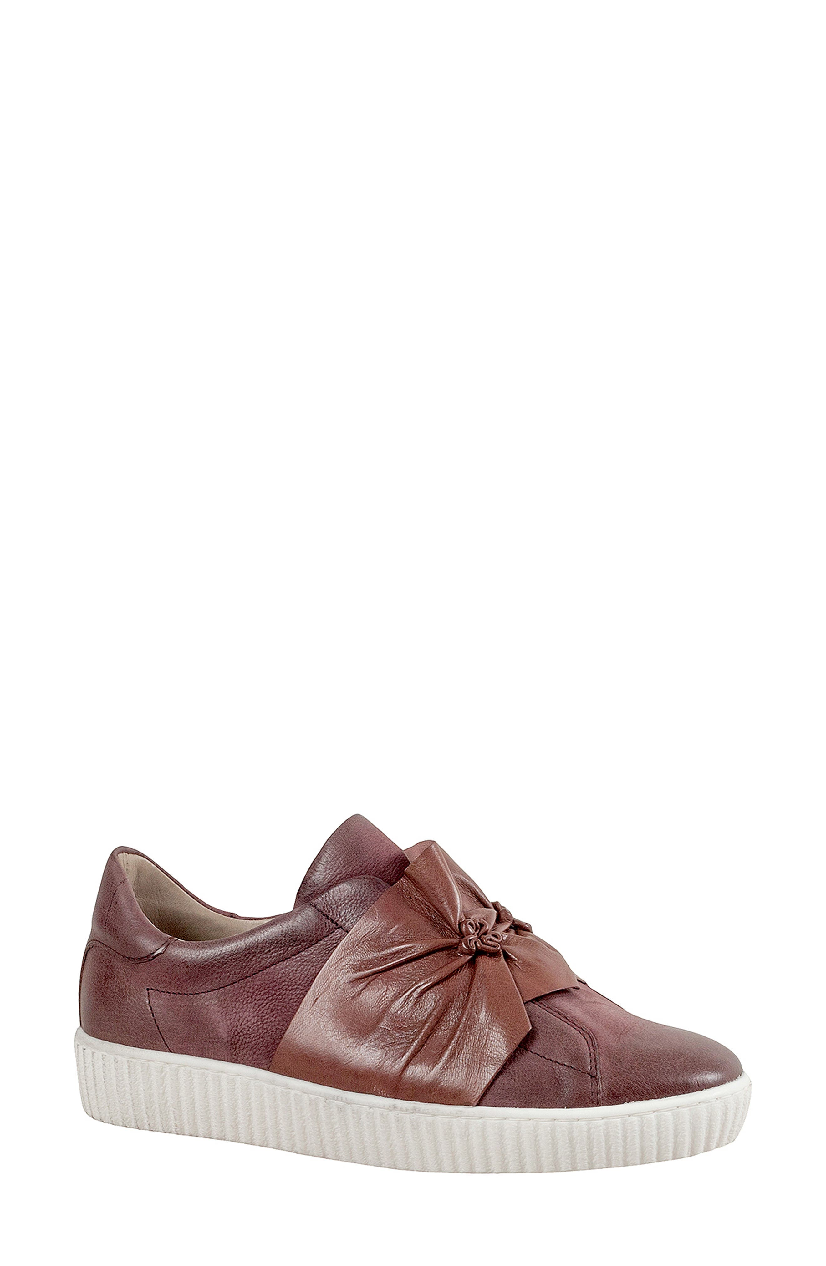 Miz Mooz Orbit Slip-On Sneaker Burgundy