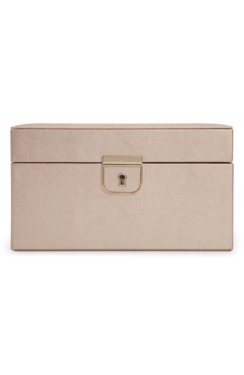 WOLF Palermo Small Jewelry Box, Main, color, ROSE GOLD