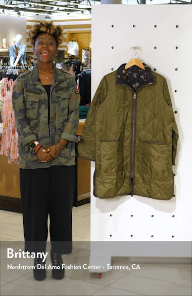 Forest Floral Reversible Quilted Liner Jacket, sales video thumbnail