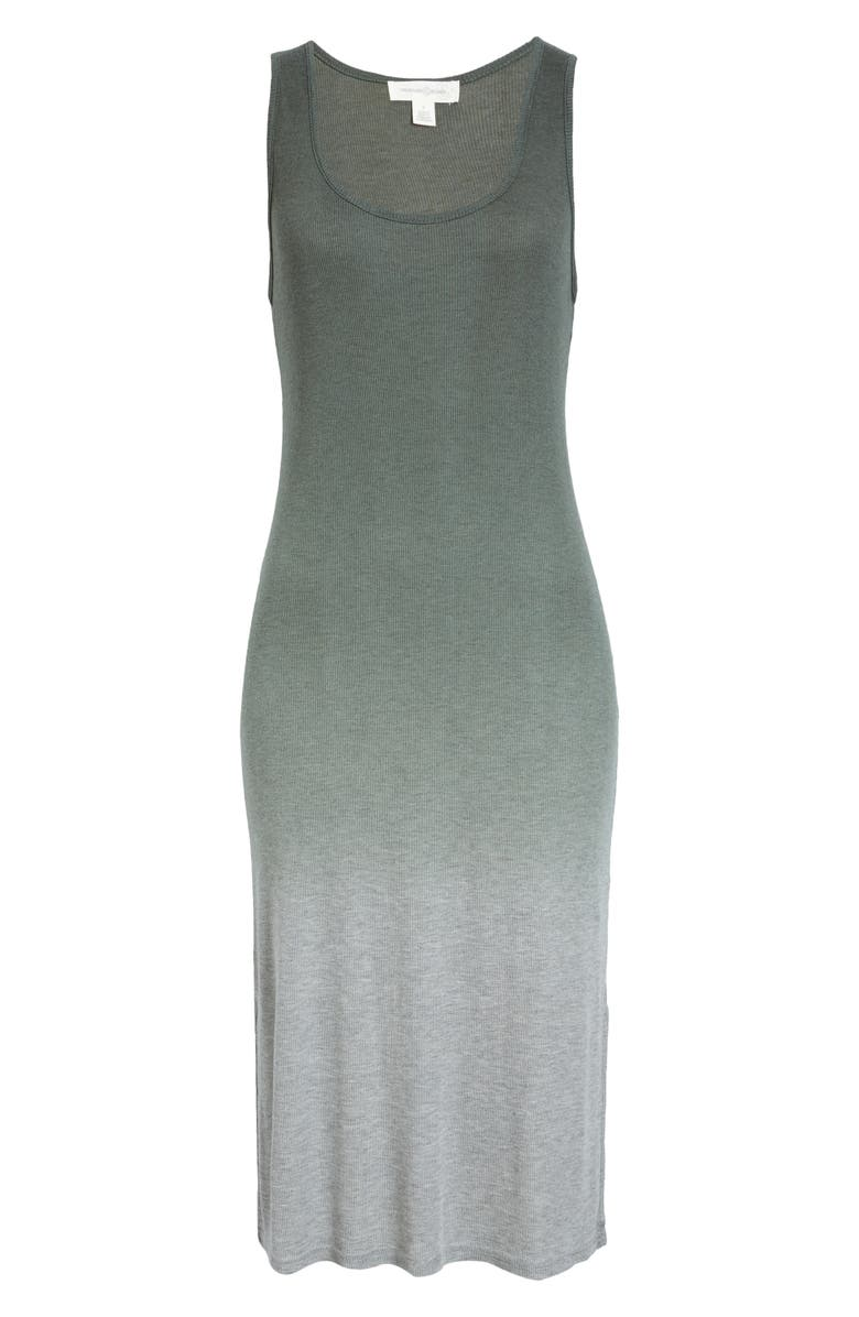 TREASURE & BOND Sleeveless Dip Dye Tank Dress, Main, color, GREY URBAN OMBRE