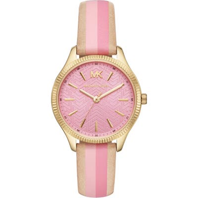 Michael Kors Lexington Leather Strap Watch,