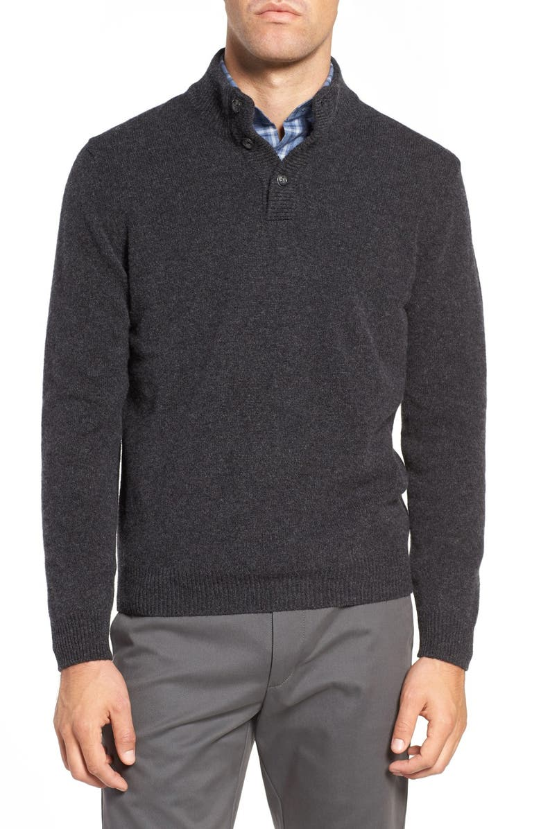 LEDBURY The Brewer Mock Neck Merino Wool Sweater, Main, color, 021