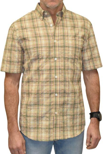 Image of Vintage 1946 Seersucker Trim Fit Short Sleeve Shirt