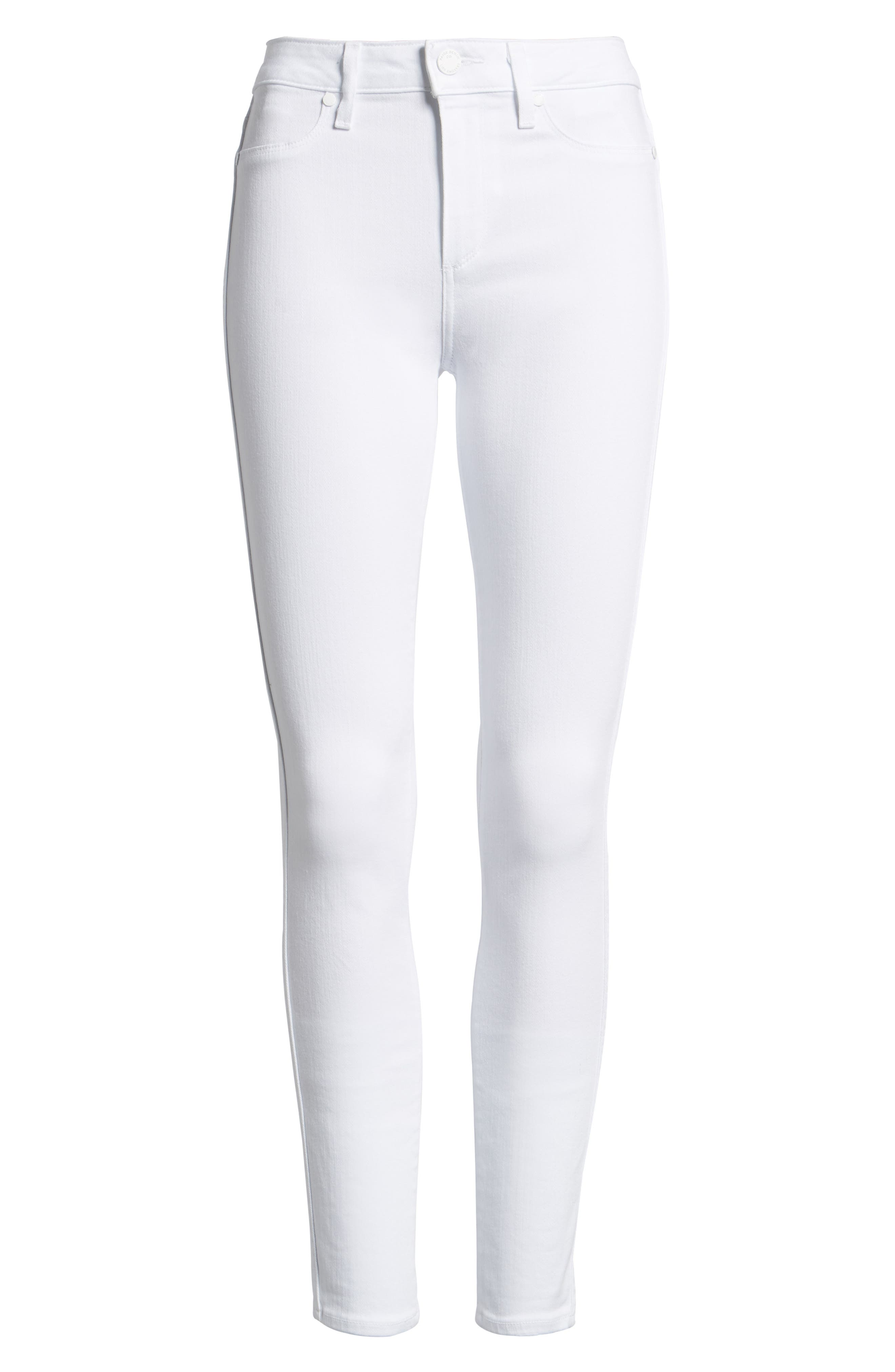 ,                             Denim Hoxton High Waist Skinny Jeans,                             Main thumbnail 1, color,                             ULTRA WHITE
