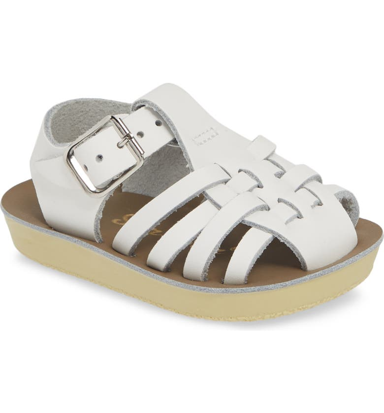 SALT WATER SANDALS BY HOY Water Friendly Fisherman Sandal, Main, color, WHITE