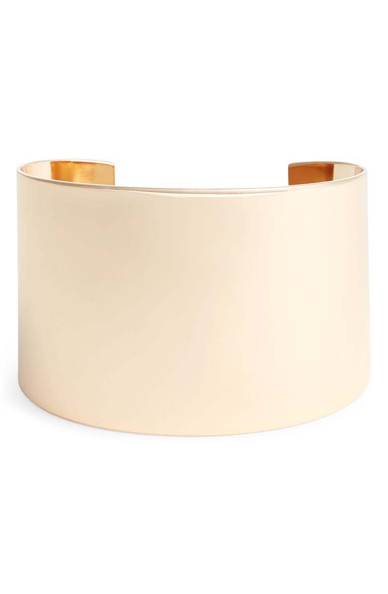 HALOGEN<SUP>®</SUP> Wide Metal Cuff, Main, color, GOLD