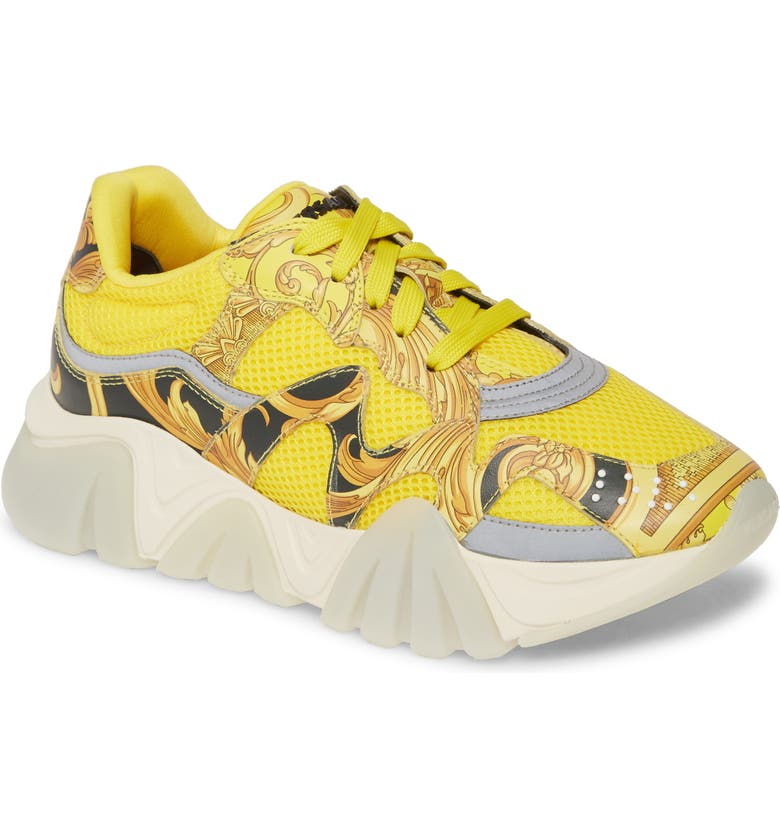 VERSACE Squalo Sneaker, Main, color, YELLOWBLACK