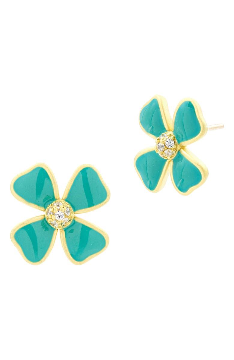 FREIDA ROTHMAN Harmony Floral Stud Earrings, Main, color, 710