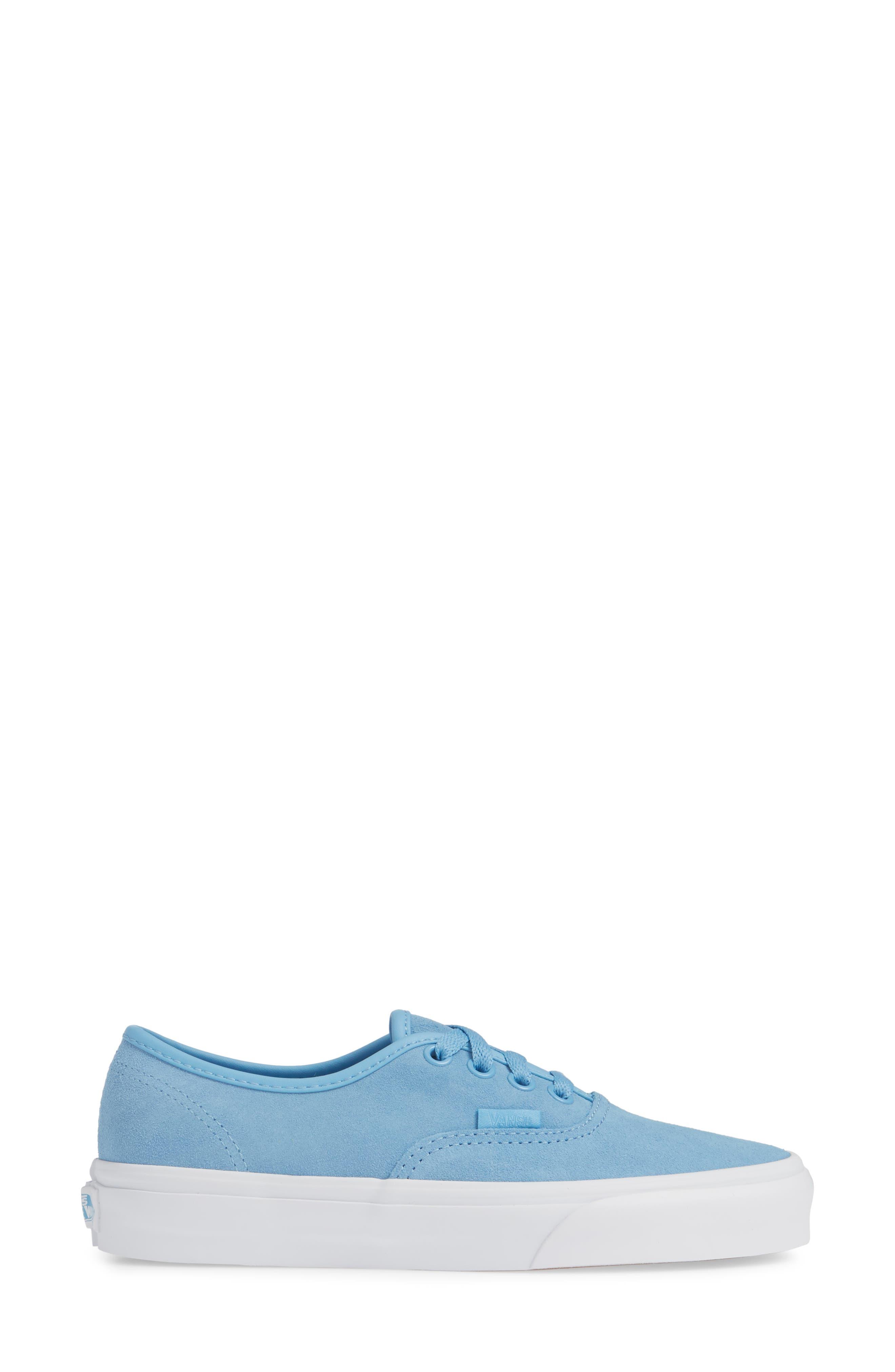 ,                             Authentic Soft Suede Sneaker,                             Alternate thumbnail 3, color,                             ALASKAN BLUE/ TRUE WHITE