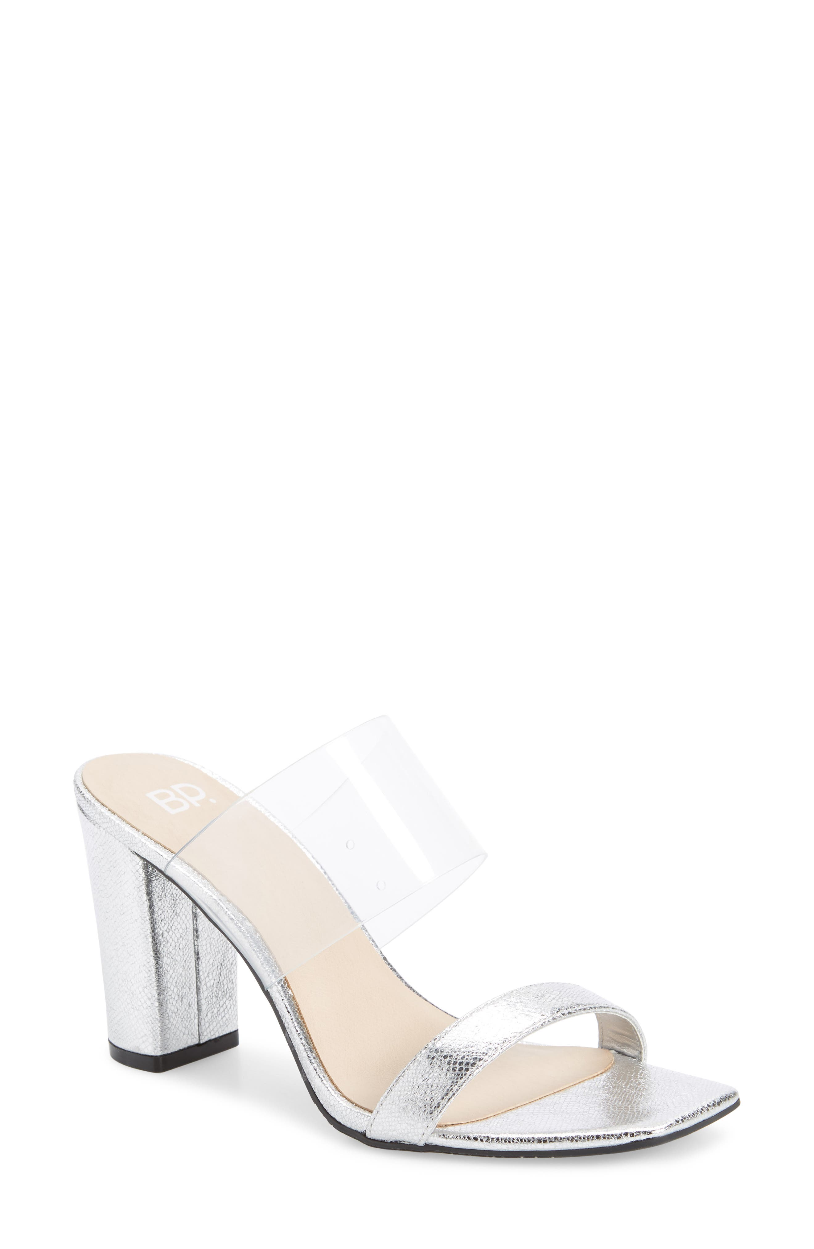 A transparent heel heightens the modern intrigue of this sleek, minimalist sandal. Style Name: Bp. Naomi Sandal (Women). Style Number: 5874144 3. Available in stores.