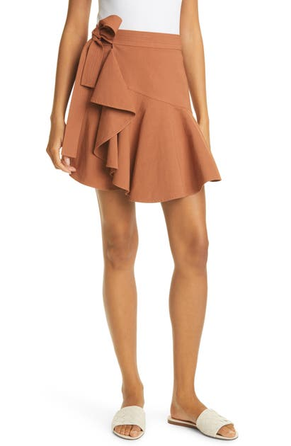 A.l.c Linens ADELAIDE SIDE TIE WRAP SKIRT