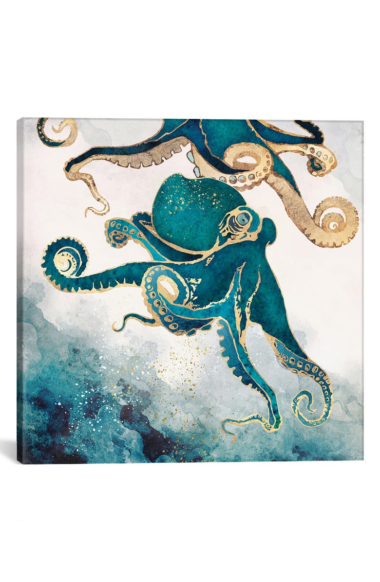 ICANVAS Underwater Dream V by SpaceFrog Designs Giclée Print Canvas Art, Main, color, BLUE/ GREEN