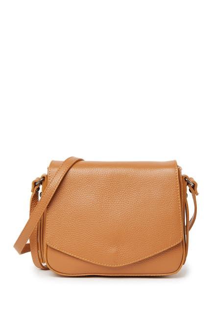 Image of Carla Ferreri Leather Envelope Flap Shoulder Bag