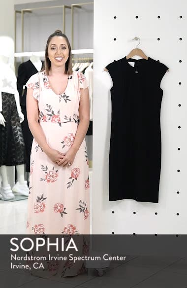 Cap Sleeve Sheath Dress, sales video thumbnail