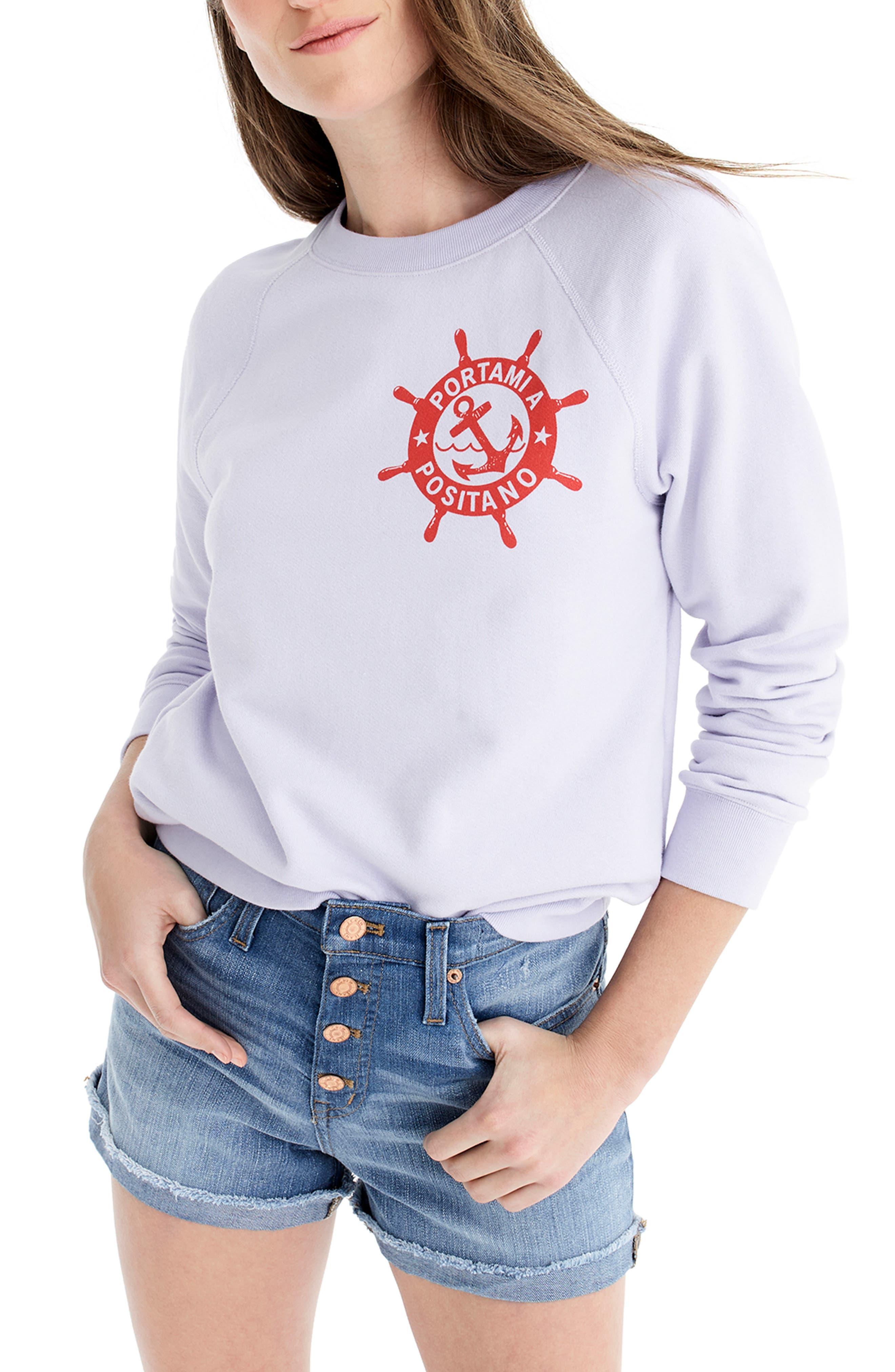Portami a Positano Raglan Sweatshirt, Main, color, SWEET HYACINTH