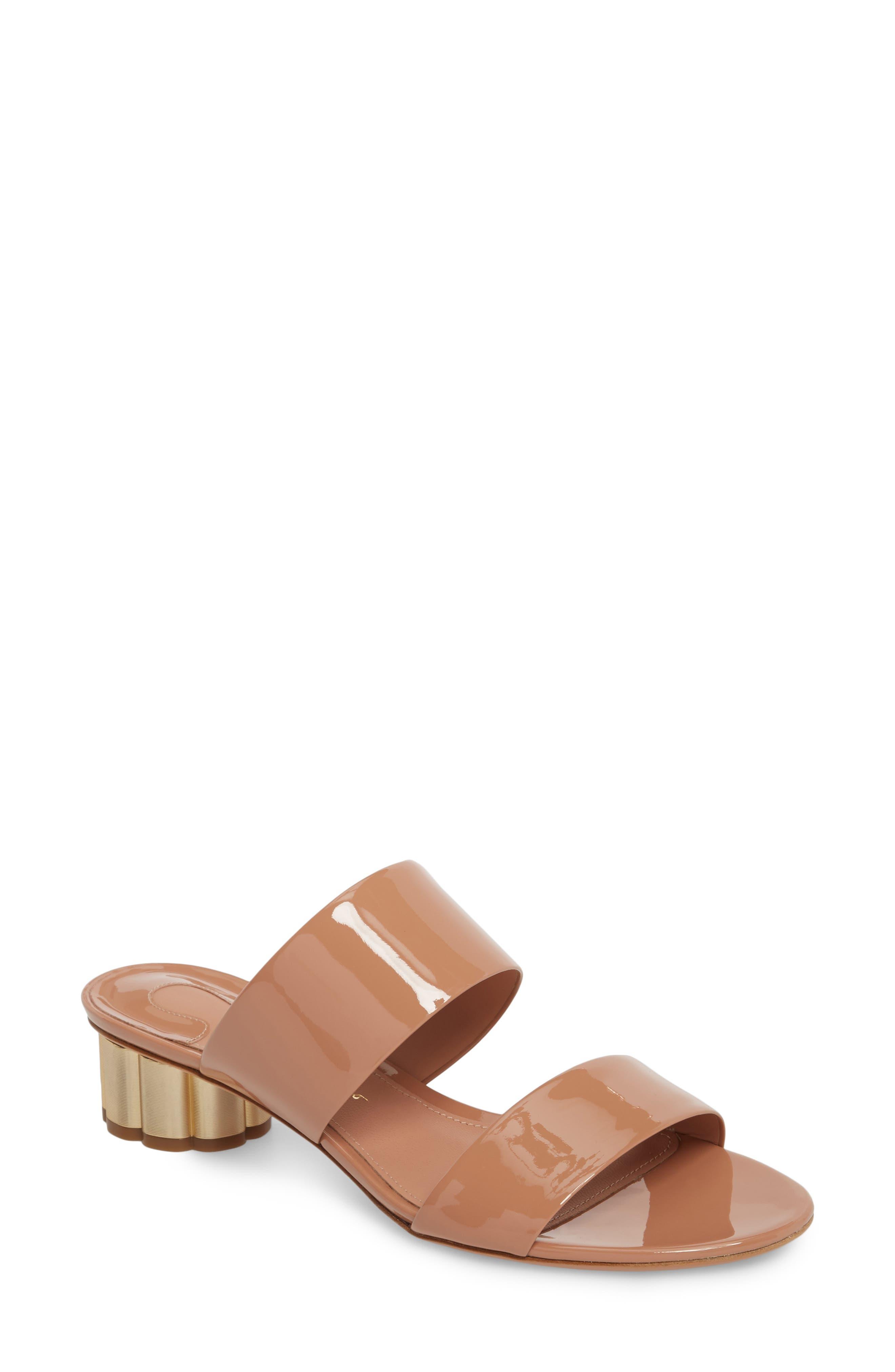 Salvatore Ferragamo Belluno Double Band Slide Sandal B - Pink