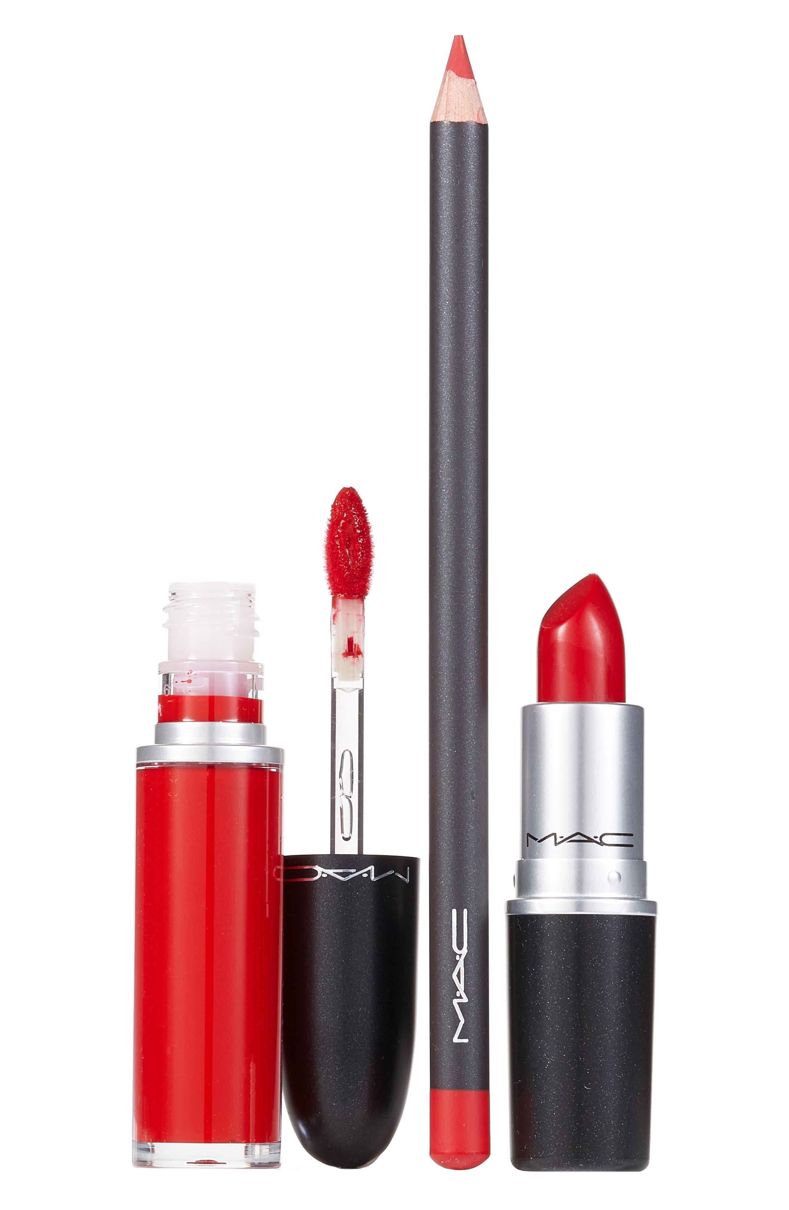 ,                             MAC Red Lip Kit,                             Main thumbnail 1, color,                             NO COLOR