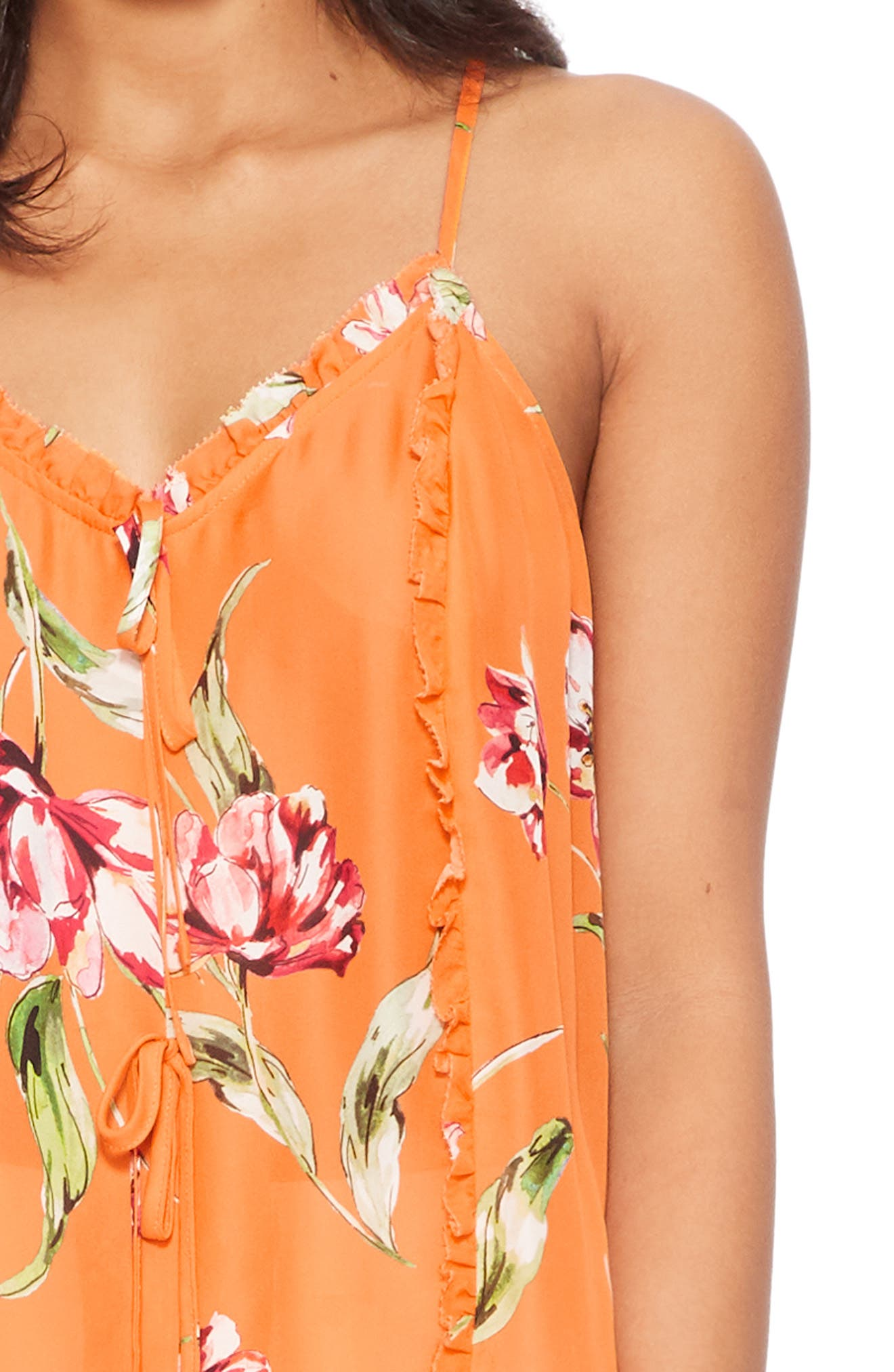 ,                             Rubina Tank,                             Alternate thumbnail 4, color,                             ORANGE MAGNOLIA