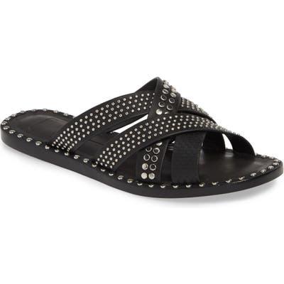 Dolce Vita Corbey Studded Slide Sandal- Black