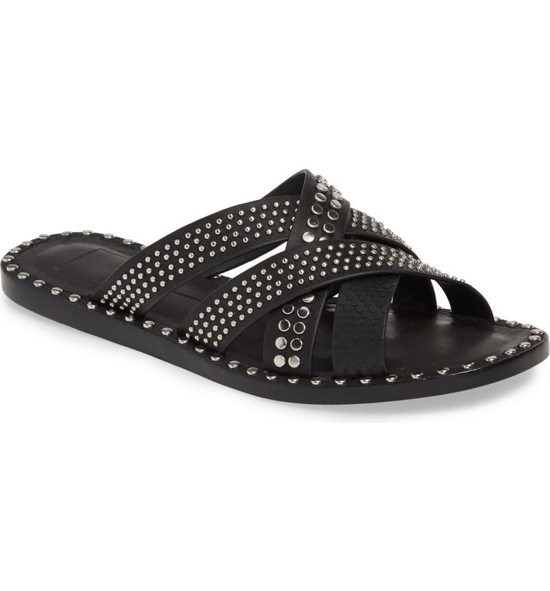 DOLCE VITA Corbey Studded Slide Sandal, Main, color, 001