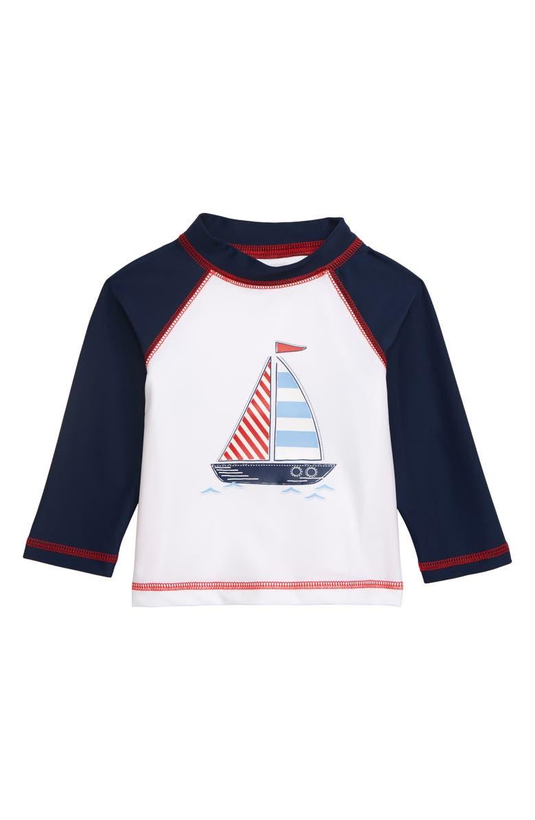 LITTLE ME Sail Boat Rashguard, Main, color, 457