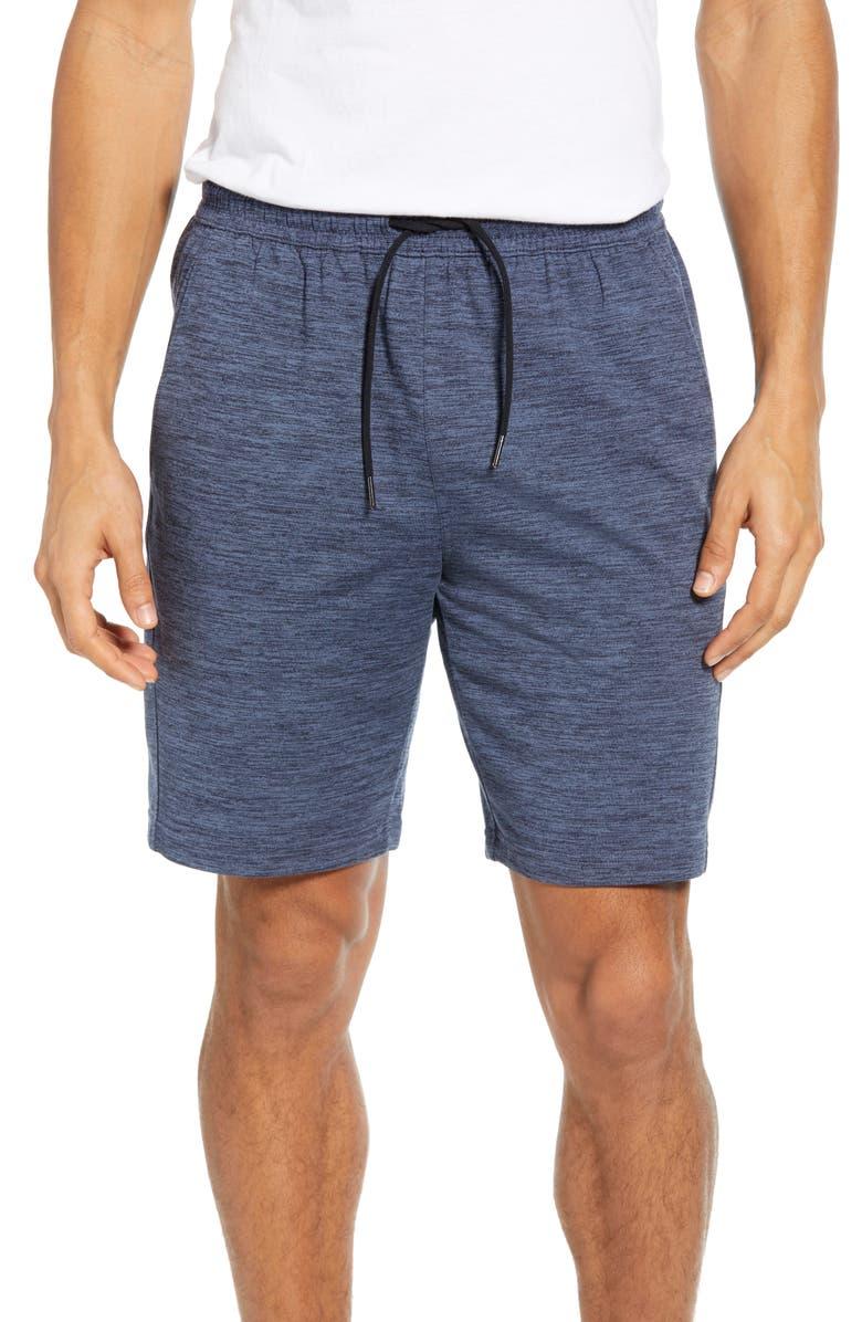 ZELLA Pyrite Knit Shorts, Main, color, BLUE VINTAGE MELANGE