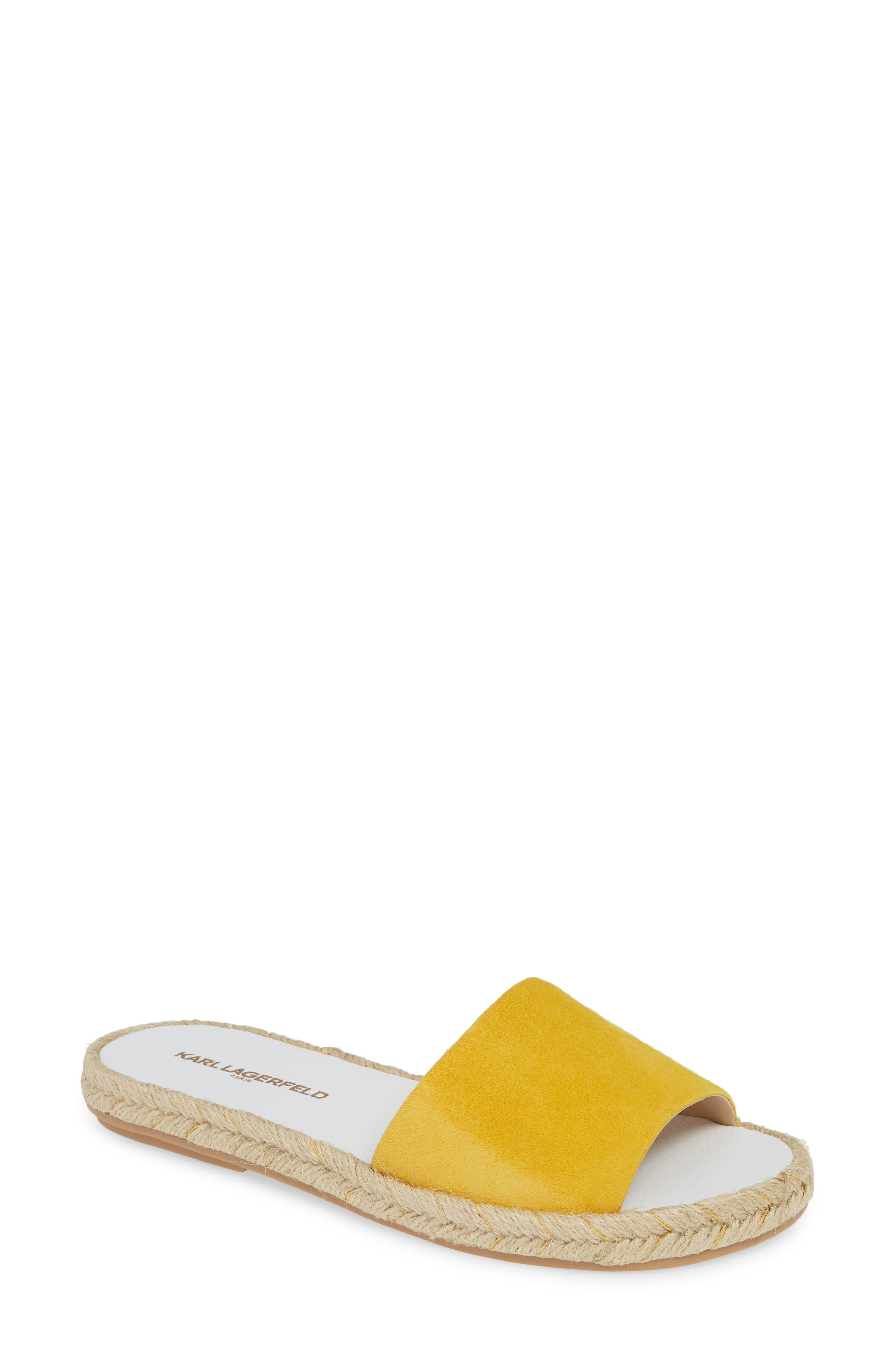 Karl Lagerfeld Paris Niya Slide Sandal, Yellow