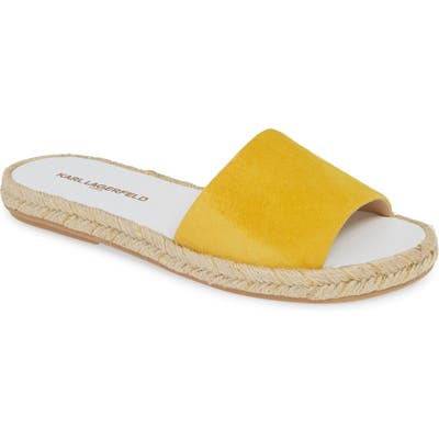 Karl Lagerfeld Paris Niya Slide Sandal- Yellow
