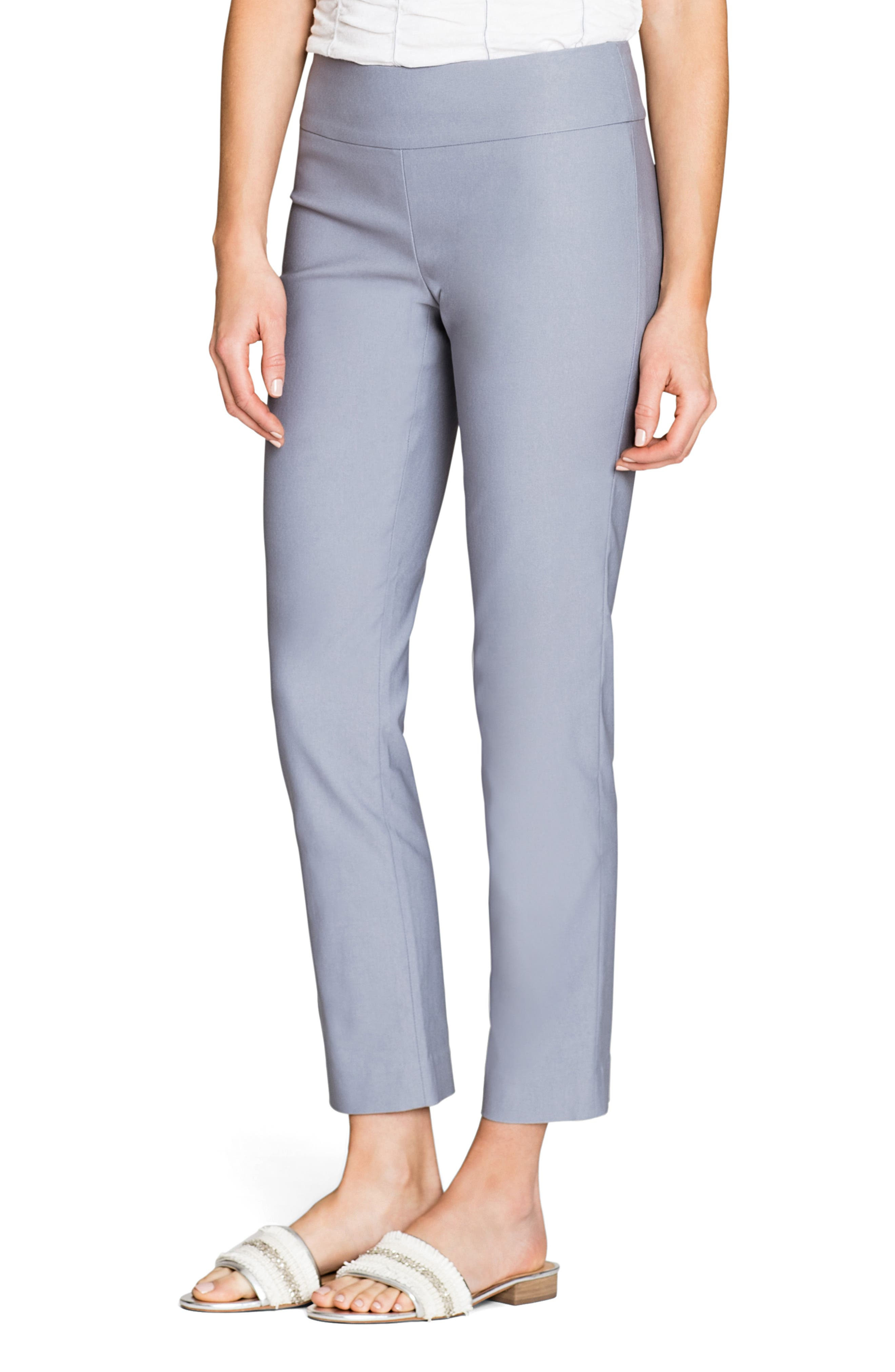 Wonderstretch Ankle Pants, Main, color, LIGHT STONE