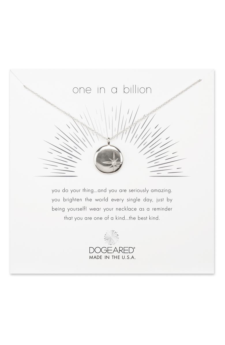 DOGEARED One in a Billion Pendant Necklace, Main, color, 040