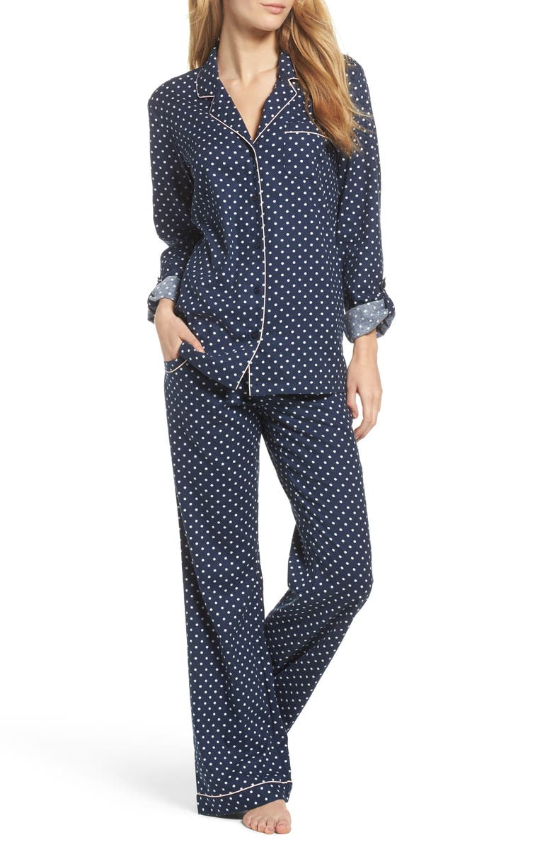 NORDSTROM LINGERIE Cotton Twill Pajamas, Main, color, 414