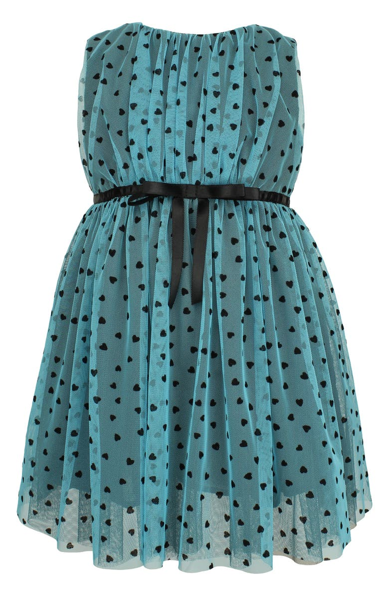POPATU Heart Sleeveless Tulle Dress, Main, color, TURQUOISE