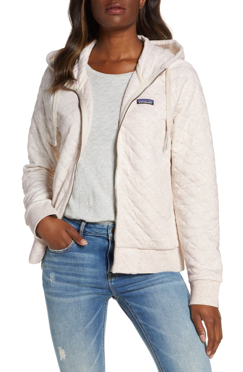 PATAGONIA Organic Cotton Blend Quilted Hoodie, Main, color, 101